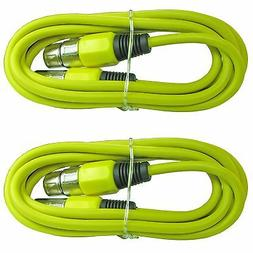 2 pack yellow 3 ft foot xlr