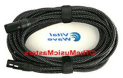 25ft Woven XLR Microphone Audio Cable Mic Extension Amp Powe