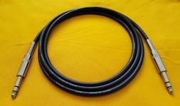 """3' Canare L-4E6S Star Quad Balanced Cable 1/4"""" TRS to 1/4"""" T"""