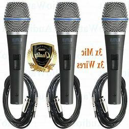3X Professional Wired Dynamic Vocal Studio Microphone HandHe