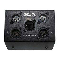 ProX 4 Channel XLR Male over CAT-5/CAT-6 Portable Snake Box