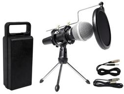 Rockville Dynamic Podcasting Podcast Microphone w/Mic Stand+