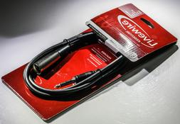 """Livewire Essential High-quality 5 Ft.  SS5TX 1/4"""" TRS Male X"""