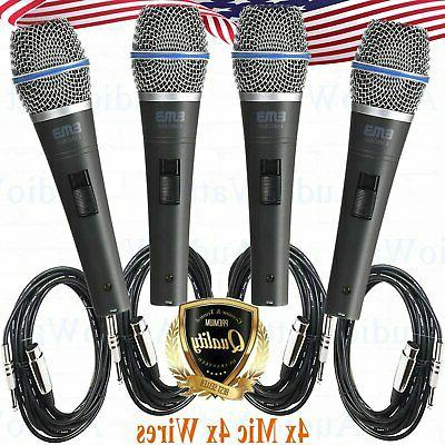 4x professional wired dynamic vocal studio microphone