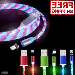 Light Up Magnetic Phone Charger LED Cable Adapter For iPhone